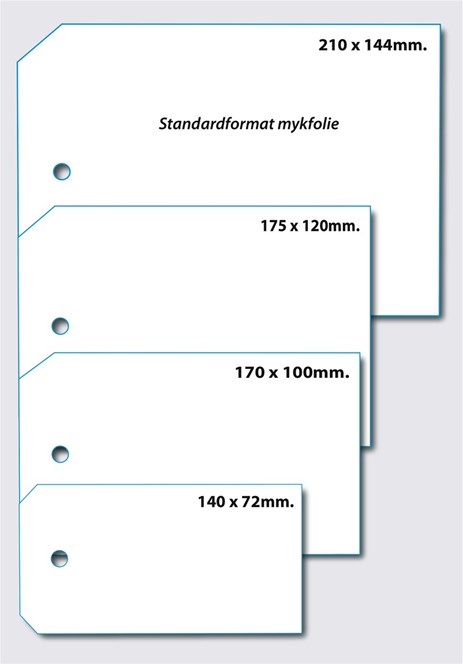 Standardformat for mykfolie